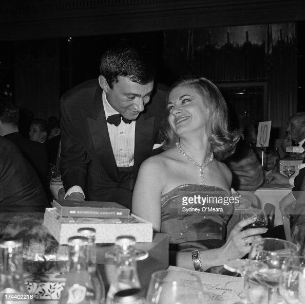 British hairdresser Vidal Sassoon with Sue Rowe at the Dorchester Hotel London 29th November 1960