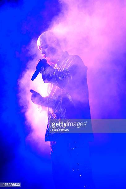 British heavy metal group Judas Priest perform onstage at the Venue in the Horseshoe Casino Hammond Indiana November 12 2011 Pictured is singer Rob...