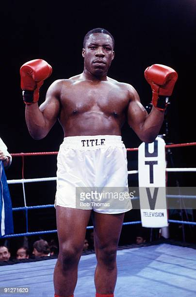 British heavyweight boxer Gary Mason after his fight against Steve Gee at the Royal Albert Hall in London 4th December 1985