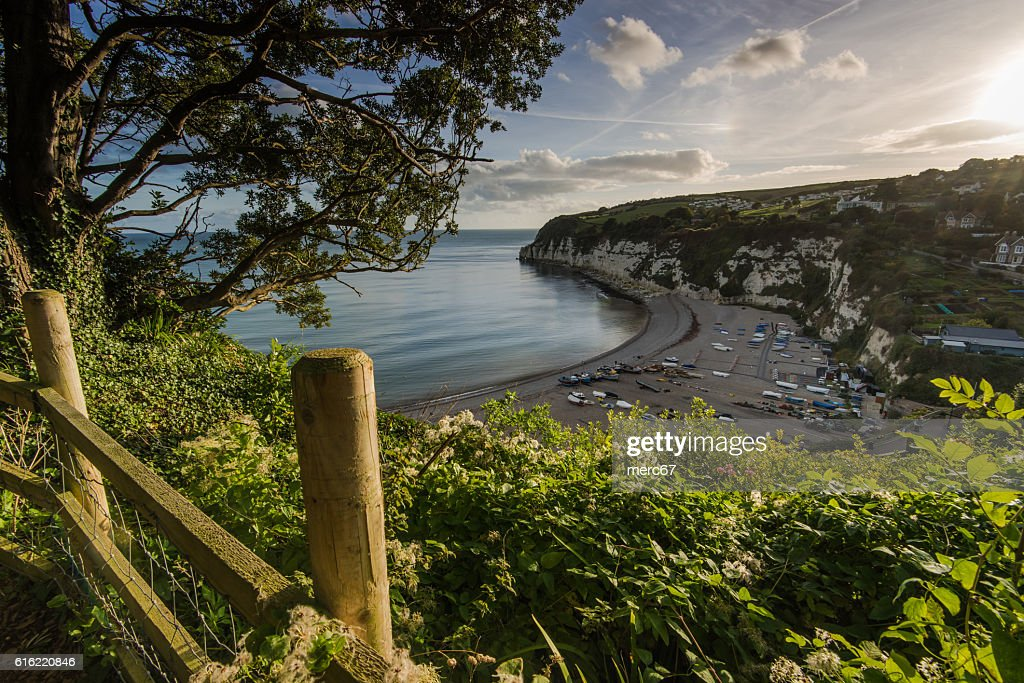 British heritage village of Beer in Devon,UK : Stock Photo