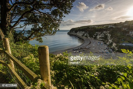 British heritage village of Beer in Devon,UK : Foto stock