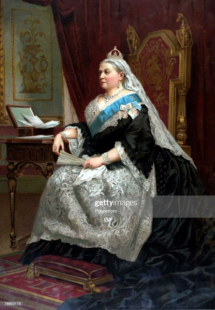 British History, Royalty, Colour illustration, Queen Victoria, in 1887, the year she celebrated her Golden Jubilee