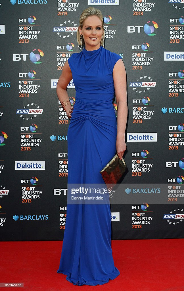 British hockey player Georgie Twigg attends the BT Sports Industry awards at Battersea Evolution on May 2, 2013 in London, England.