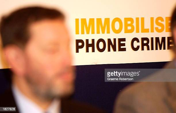 British Home Secretary David Blunkett attends the launch of a campaign to disable stolen or lost mobile phones March 4 2003 in London Blunkett...