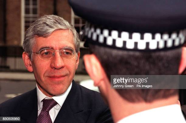 British Home Secretary Jack Straw talks to Superintendant Archie Torrance before his vist to the Closed Circuit TV Control Room at London's...