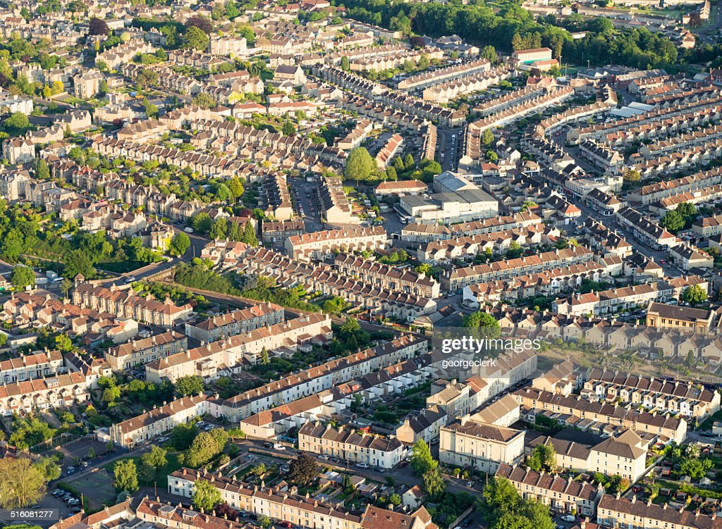 British housing from the air : Stock Photo
