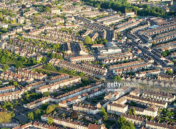 British housing from the air