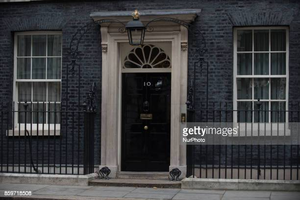 British iconic 10 Downing Street facade is pictured in London on October 10 2017