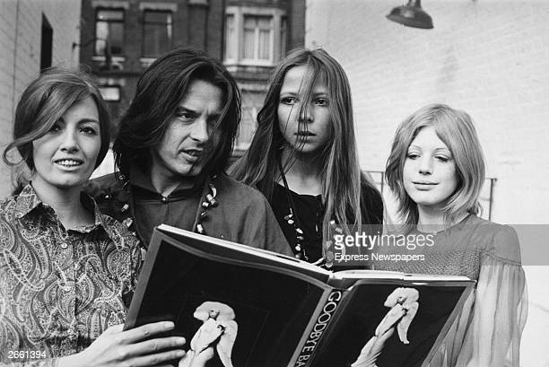British icons of the 1960's from left to right Christine Keeler photographer David Bailey fashion model Penelope Tree and pop singer and actress...
