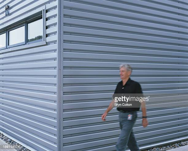 British industrial designer Sir James Dyson during a press interview at the Dyson company headquarters in Malmesbury Wiltshire 3rd September 1999...