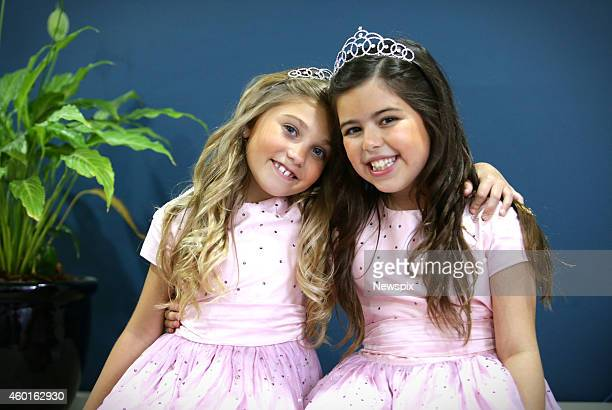 British internet stars Sophia Grace Brownlee and Rosie McClelland visit Westfield Garden City on December 6 2014 in Brisbane Australia