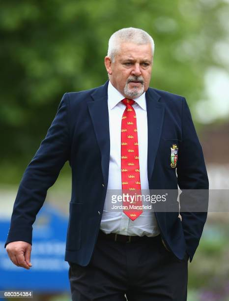 British Irish Lions Head Coach Warren Gatland looks on during a British and Irish Lions photo call at London Syon Park Hotel on May 8 2017 in London...