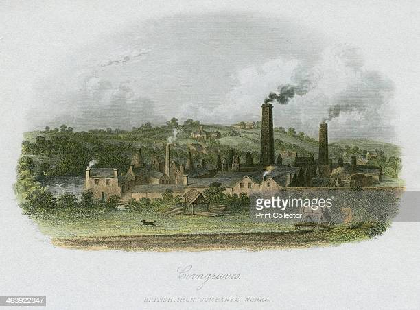 British Iron Company's Works at Corngraves near Halesowen West Midlands c1835 Corngraves or Corngreaves lies 7 miles southwest of Birmingham and 5...