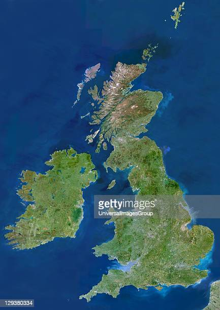 British Isles satellite image The island of Great Britain comprises England Wales and Scotland Together with Northern Ireland these form the United...