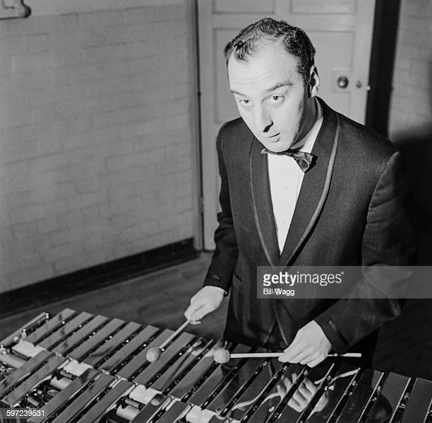 British jazz percussionist Victor Feldman on the xylophone circa 1960