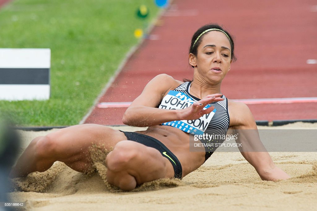 British Johnson-Thompson competes during the longjump of the heptathlon on May 29, 2016 as part of the 42nd Hypo-Meeting in Gotzis. / AFP / APA / DIETMAR STIPLOVSEK / Austria OUT