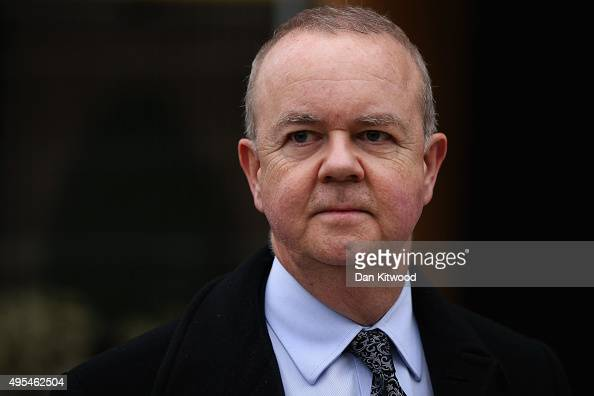 British journalist and editor of Private Eye magazine Ian Hislop arrives at St Georges Cathedral for a memorial service for former Liberal Democrat...
