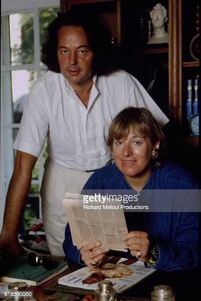 British journalist Carol Thatcher and French journalist and writer Gonzague Saint Bris in Touraine