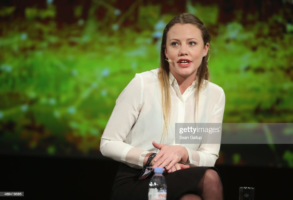 British journalist Sarah Harrison, who has worked closely with Wikileaks and accompanied Edward Snowden when he flew from Hong Kong to Moscow, and who said she is currently living in Berlin because she fears persecution under Section 7 of the British legal system should she return to Britain, speaks at the 2014 re:publica conferences on digital society on May 6, 2014 in Berlin, Germany. The conference brings together bloggers, developers, human rights activists and others to discuss the course of the digital future. Re:publica will run until May 8.