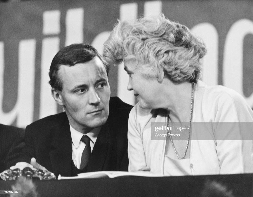 British Labour MPs Tony Benn and Jennie Lee at the opening session of the Labour Party conference in Brighton Sussex 3rd October 1966