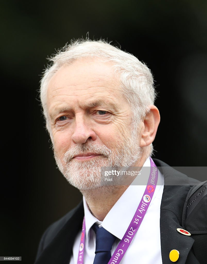 British Labour Party leader <a gi-track='captionPersonalityLinkClicked' href=/galleries/search?phrase=Jeremy+Corbyn&family=editorial&specificpeople=2596361 ng-click='$event.stopPropagation()'>Jeremy Corbyn</a> arrives for the 100th anniversary of the beginning of the Battle of the Somme at the Thiepval memorial to the Missing on July 1, 2016 in Thiepval, France. The event is part of the Commemoration of the Centenary of the Battle of the Somme at the Commonwealth War Graves Commission Thiepval Memorial in Thiepval, France, where 70,000 British and Commonwealth soldiers with no known grave are commemorated.