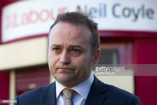 British Labour Party member of parliament Neil Coyle speaks to the media outside his constituency office in London on December 4 2015 The politician...