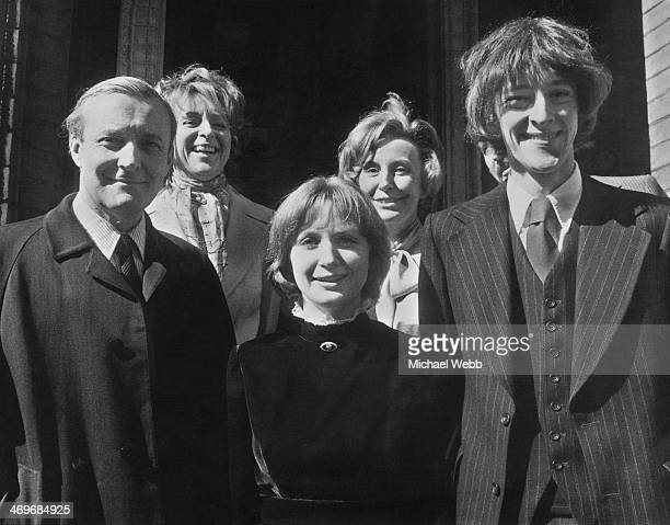 British Labour Party MP Tony Benn at the wedding of his son Hilary and Rosalind Retey at Kensington Registry Office London 7th April 1973