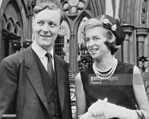 British Labour Party MP Tony Benn with his wife Caroline outside the Royal Courts of Justice London 10th July 1971 They are on their way to an...