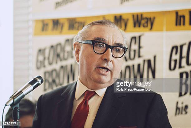 British Labour Party politician and former Deputy Prime Minister George Brown pictured promoting the publication of his memoirs 'In My Way' in London...