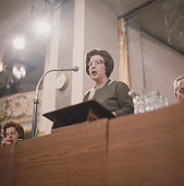 British Labour Party politician and Minister of State at the Home Office Alice Bacon speaks from the platform at the Labour Party annual Conference...