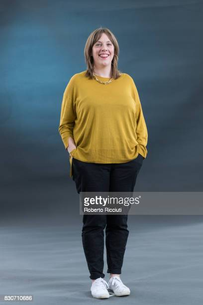 British Labour Party politician Jess Phillips attends a photocall during the annual Edinburgh International Book Festival at Charlotte Square Gardens...