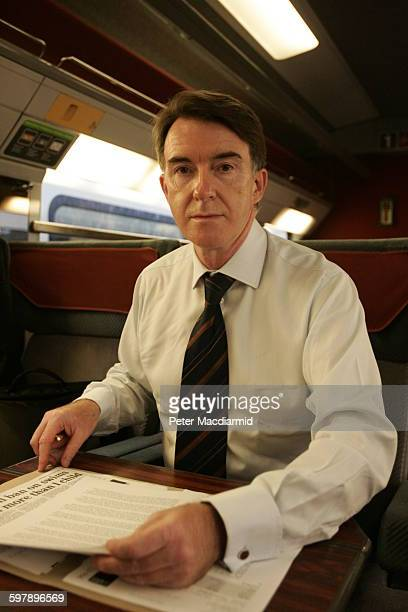 British Labour politician Peter Mandelson leaves London's Eurostar terminal at Waterloo Station to take up his position as European Commissioner for...
