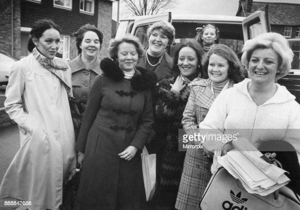 British Leyland Wives of Strikers in London 24th January 1978 Our picture shows Maureen Crook and her seven woman party wives of striking workers at...