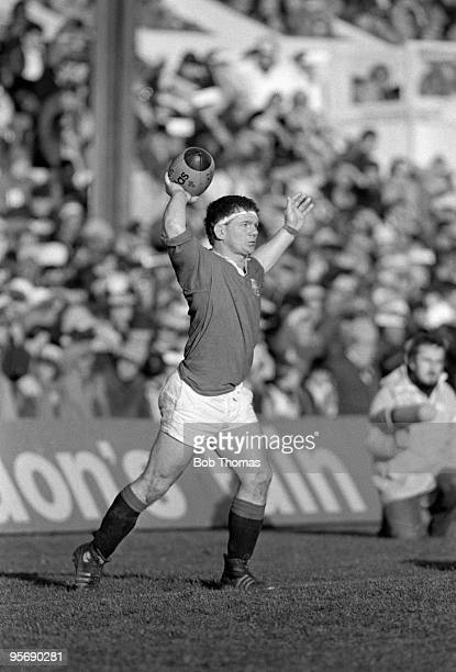 British Lions Ciaran Fitzgerald with the ball during the 2nd Test Match against the All Blacks held at Athletic Park in Wellington on the 18th June...