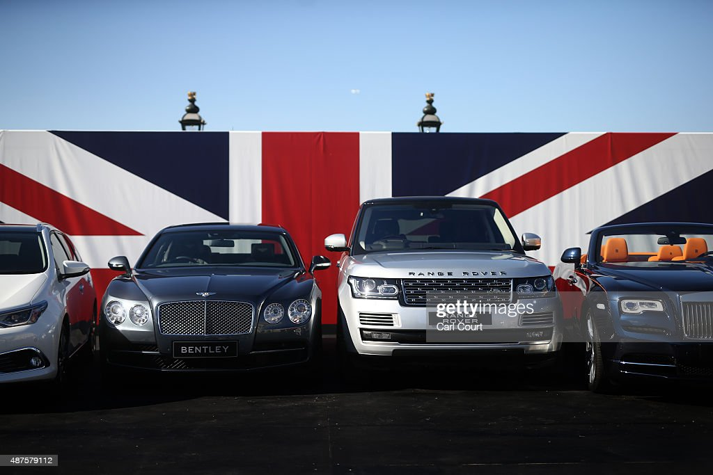 British Built Cars Line Up Before They Travel To Major