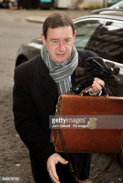 British Meat Processors Association Director Stephen Rossides arriving at an emergency meeting with the Food Standards Agency and retailers at Defra...