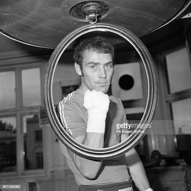 British Middleweight Champion Alan Minter from Crawley Sussex pictured during a training session ahead of his fight with Kevin Finnegan