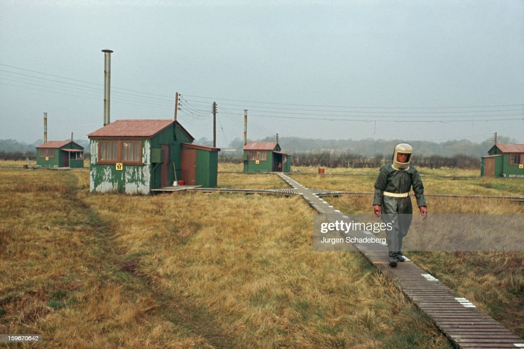 A British military chemical warfare facility, UK, 1975.