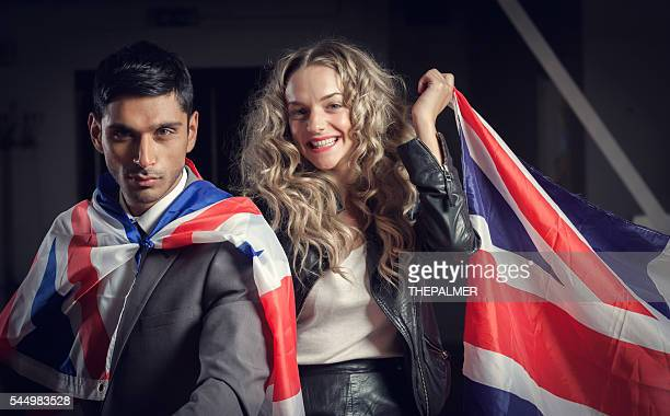 British mixed race couple