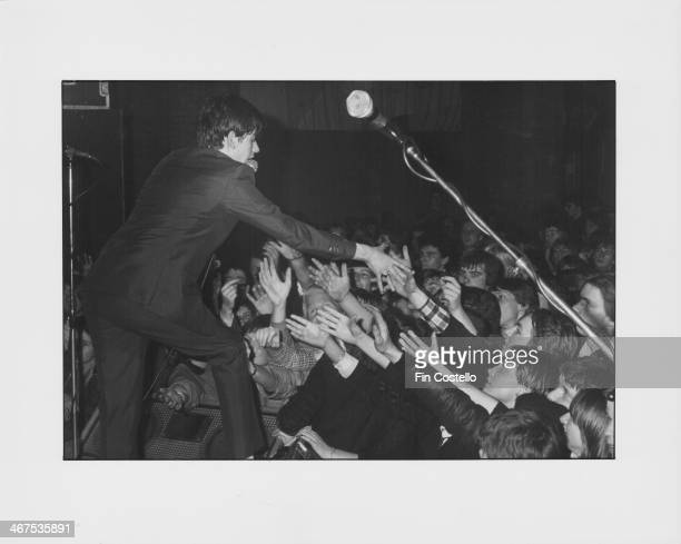 British mod revival band Secret Affair on stage circa 1980