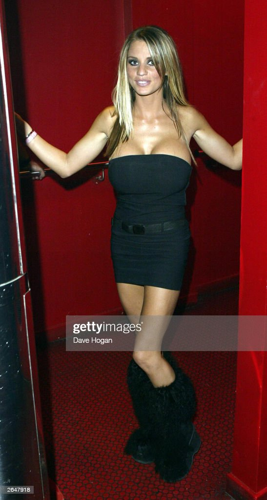 British model 'Jordan' at the Craig David party after the MOBO Awards at the 'Scala' club Kings Cross on October 1, 2002 in London.