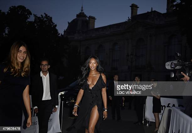 British model Naomi Campbell arrives for the amfAR dinner on the sidelines of the Paris fashion week in Paris on July 5 2015 AFP PHOTO / LOIC VENANCE
