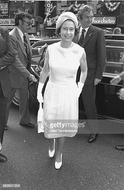 British monarch Queen Elizabeth II visits Bloomingdales' department store New York New York July 1976