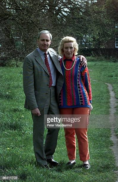 British MP Neil Hamilton and his wife Christine on Knutsford Heath during the 1997 election 8th April 1997 Neil is the Conservative candidate for...