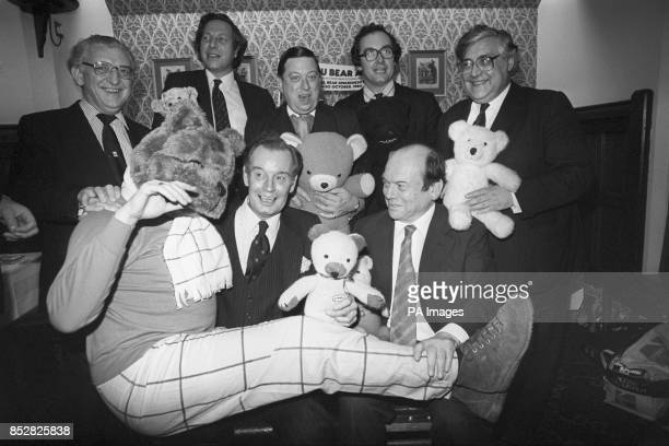 British MPs with 'Robert Bear' attend a Good Bears of the World charity reception at the House of Commons in Westminster London Wyn Roberts...