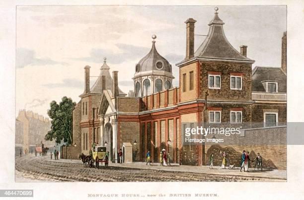 British Museum Holborn London c1810 with a street scene
