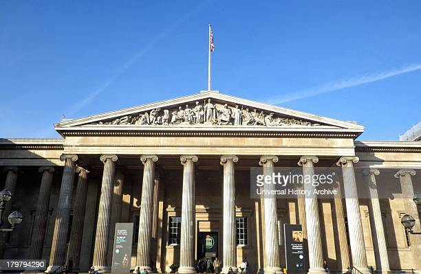 British Museum quadrangle building designed by the architect Sir Robert Smirke in 1823 completed in 1827 The building's fronting is Portland stone...