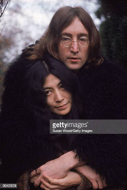 British musican and artist John Lennon holds Japaneseborn artist and musician Yoko Ono in his arms December 1968
