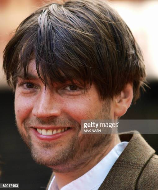 British musician Alex James from the group Blur arrives at Leicester Square on July 23 to attend the British premiere of his latest film Inglourious...