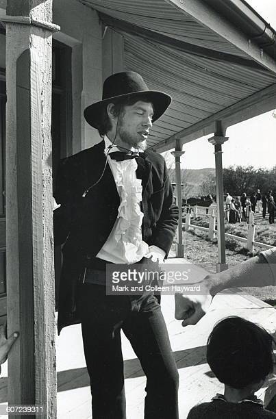 British musician and actor Mick Jagger stands in costume on the set of the film 'Ned Kelly' Australia July 1969